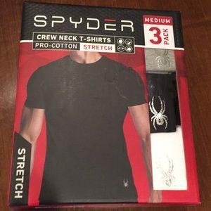 Spyder Crew Neck T-Shirts 3 Pack